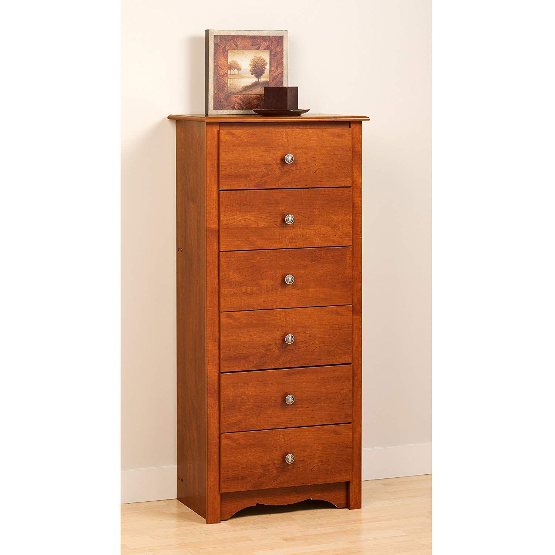 Cherry monterey tall 6 drawer chest kitchen