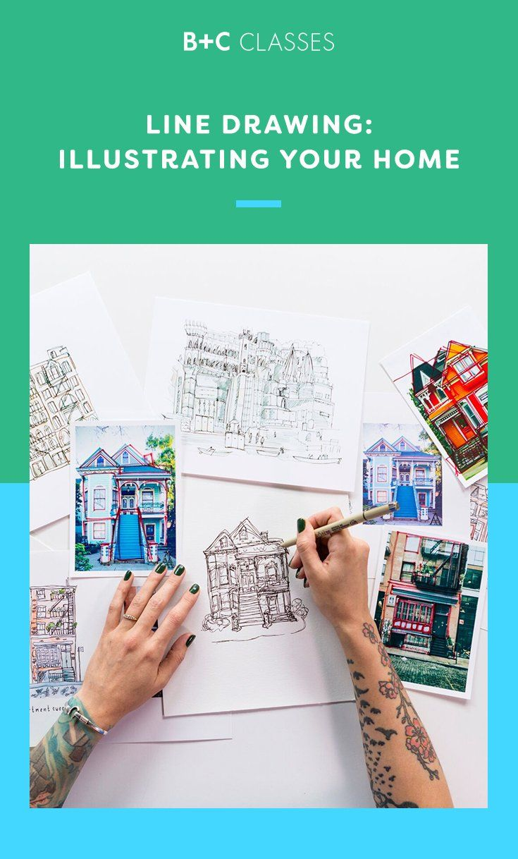 Save this to learn about Brit + Co\'s Line Drawing: Illustrating Your ...