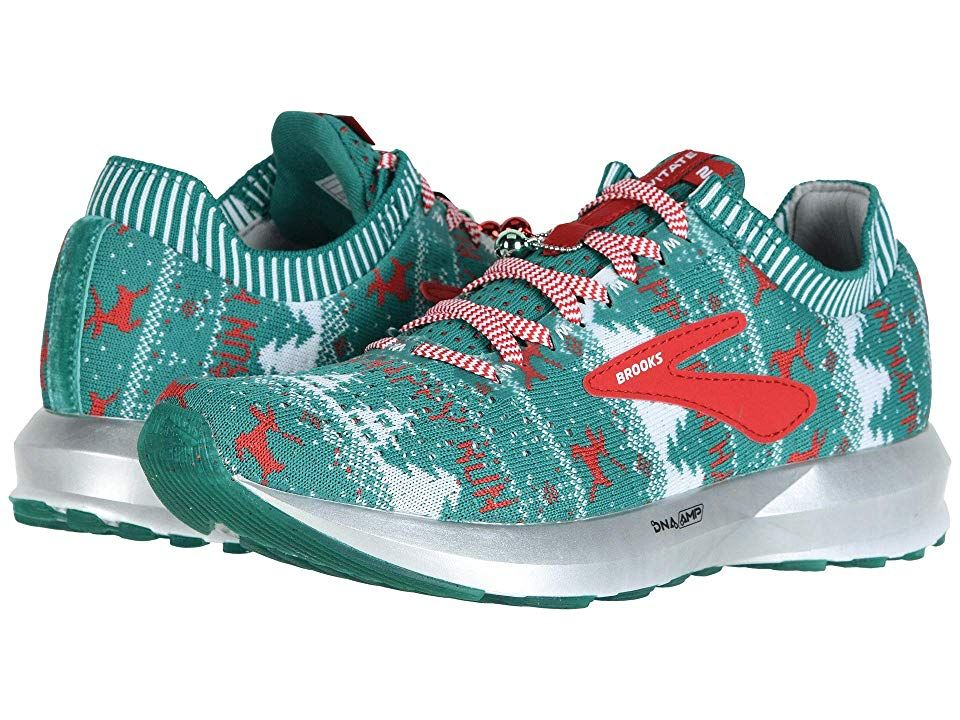 22dae4945fa Brooks Levitate 2 (Green White Red (Holiday Edition)) Women s Running Shoes.  The Brooks Levitate 2 running shoe is designed with the highest energy  return ...