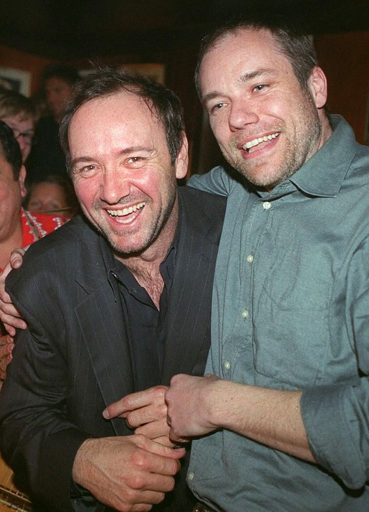 Chasing Spacey • Kevin Spacey sharing a laugh. Happy Monday xo