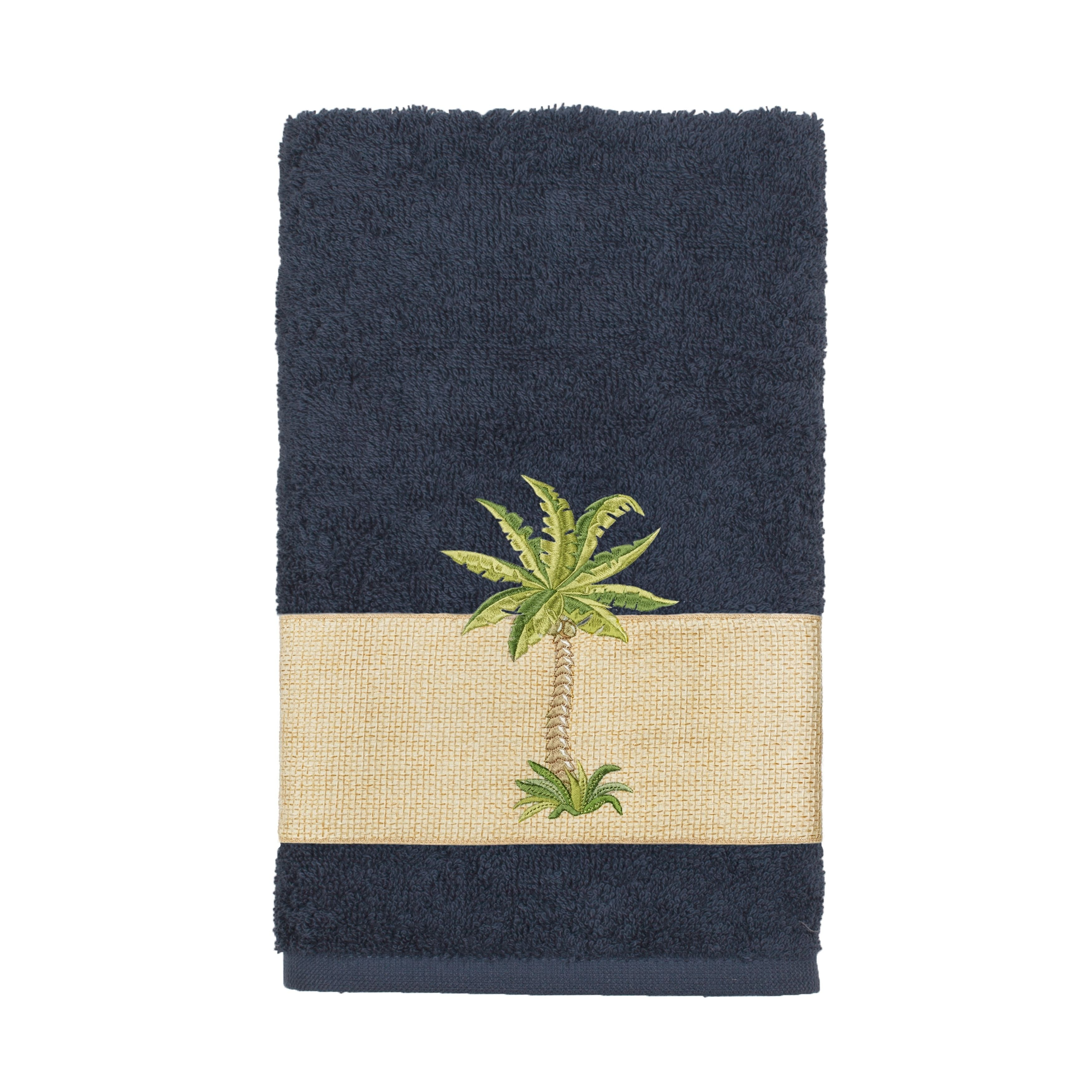 Authentic Hotel And Spa Turkish Cotton Palm Tree Embroidered