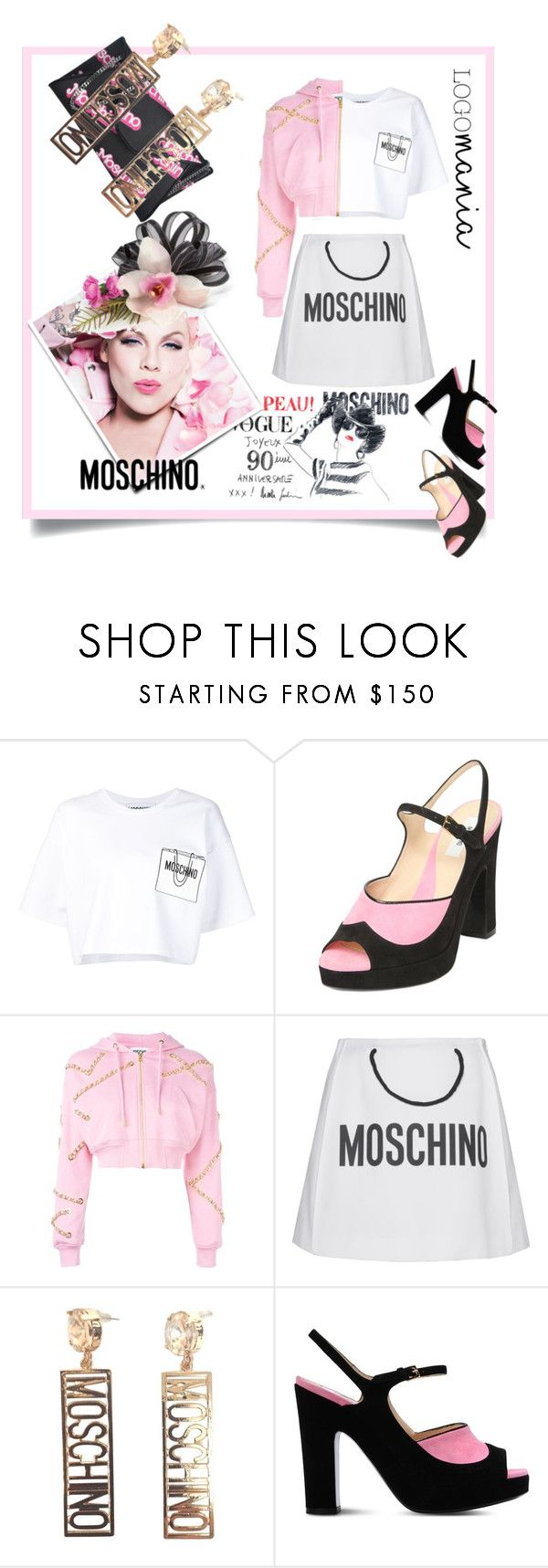"""Logomania"" by kari-c ❤ liked on Polyvore featuring moda, Moschino ve logomania"
