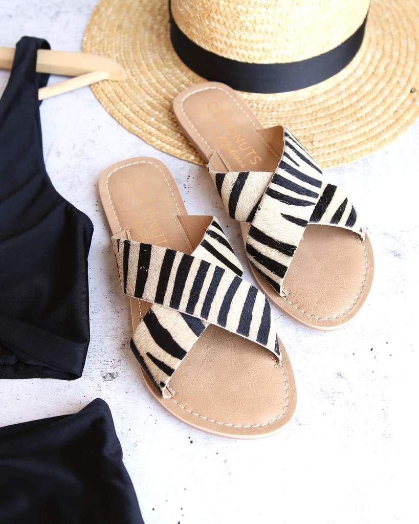 0fdd581c1539 Coconuts by matisse - pebble animal print flip flop sandal - tan ...