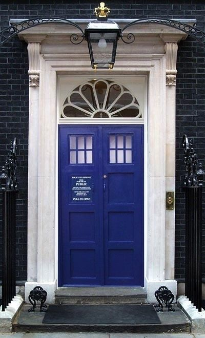Blue Door - my dream house will have a TARDIS blue front door & Door Inspired by Doctor whou0027s Tardis looks like a British police ...