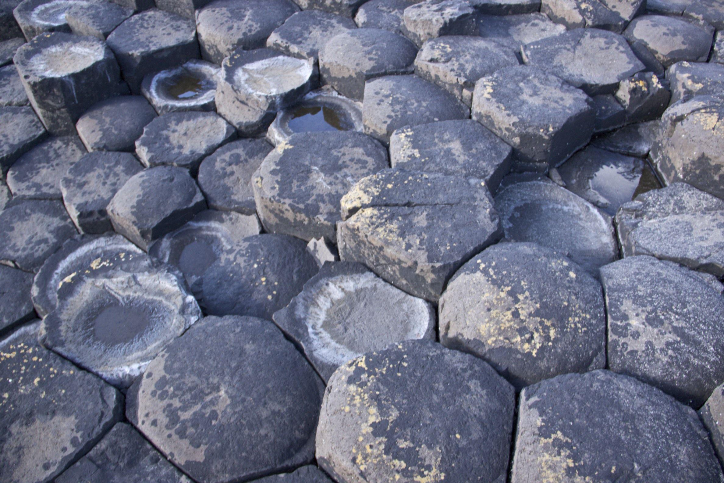 Hexagonal pavement of the Giant's Causeway.