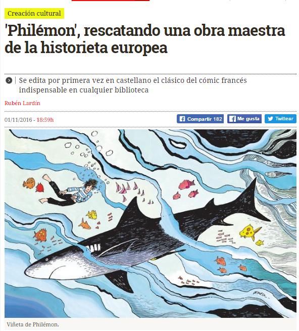 'Philémon', rescatando una obra maestra de la historieta europea / @eldiarioes | #nosólotécnicaBUPM