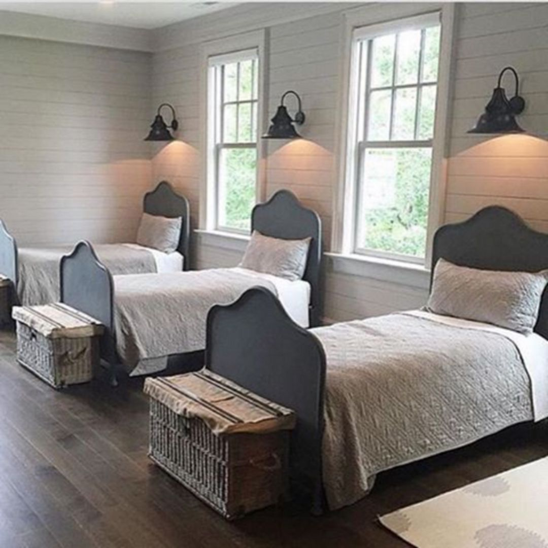 Farmhouse Bed 2127 Home bedroom, Guest bedrooms, Bedroom