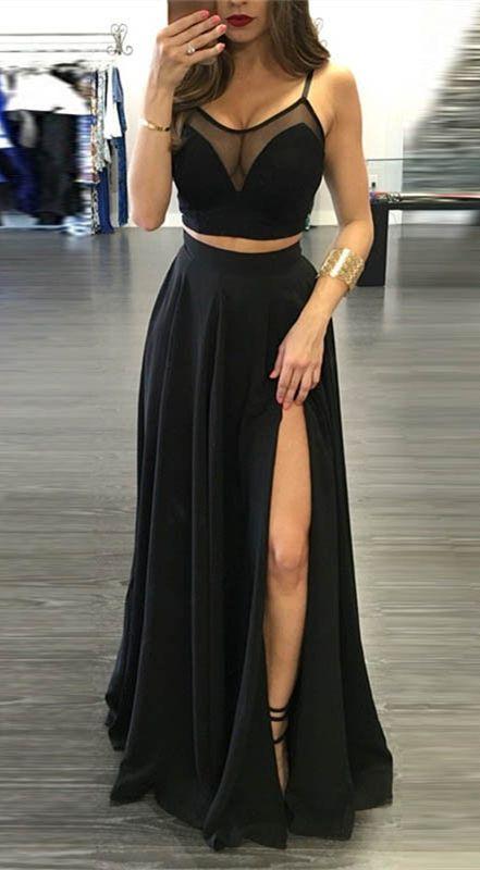 23+ Two piece dress black information