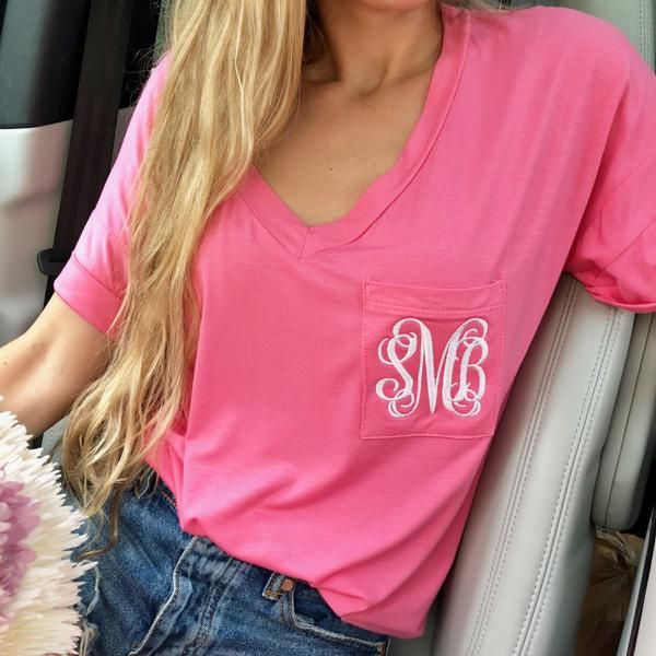 45b8d941fe165 Monogram Veronica Pocket Tee | 23rd bday gifts!! | T shirts for ...