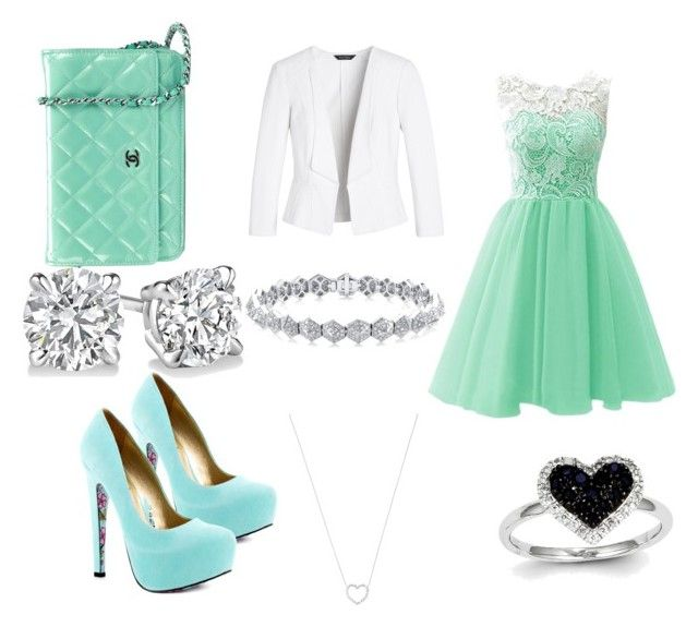 """""""goin to church"""" by gabrielleodolphe995 ❤ liked on Polyvore featuring beauty, White House Black Market, TaylorSays, Chanel, Kevin Jewelers and Tiffany & Co."""