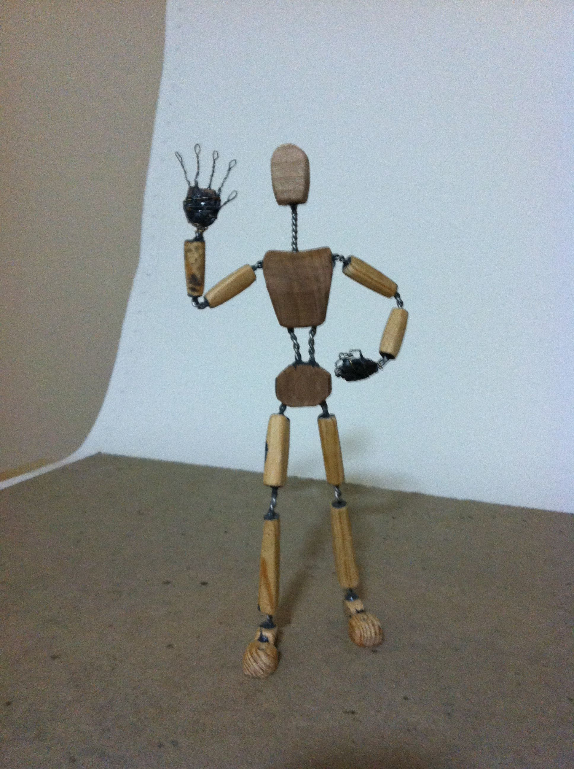 Puppet Building 1- Dewey: wood and wire armature | Puppet and Woods