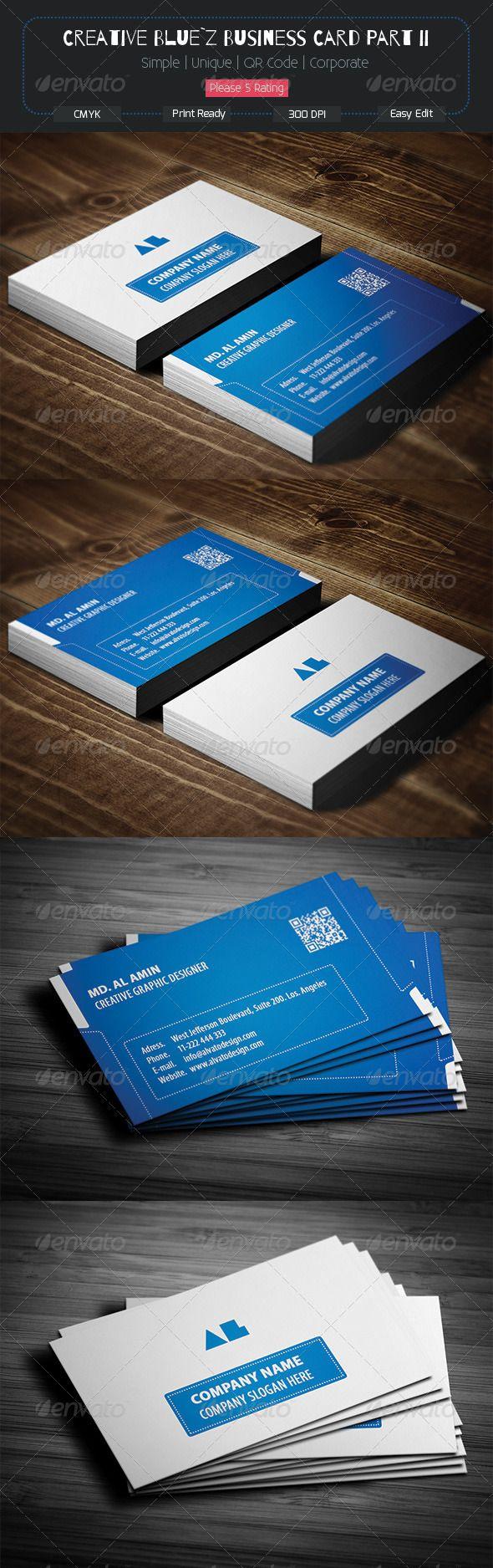 Creative Blue Z Business Card Part Ii Business Cards Creative Templates Letterpress Business Cards Business Cards Creative