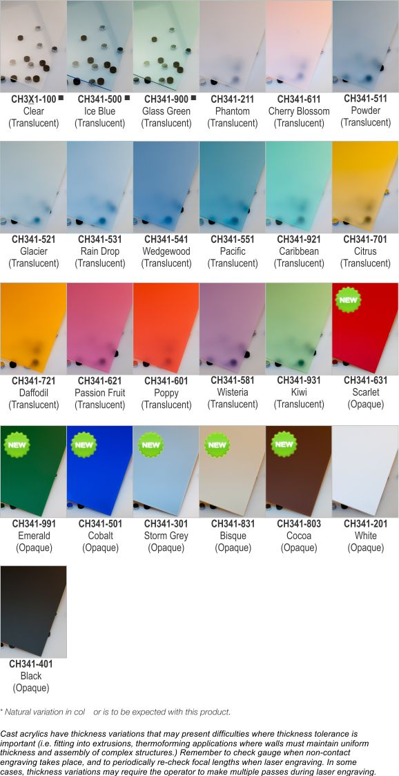 rowmark color chart
