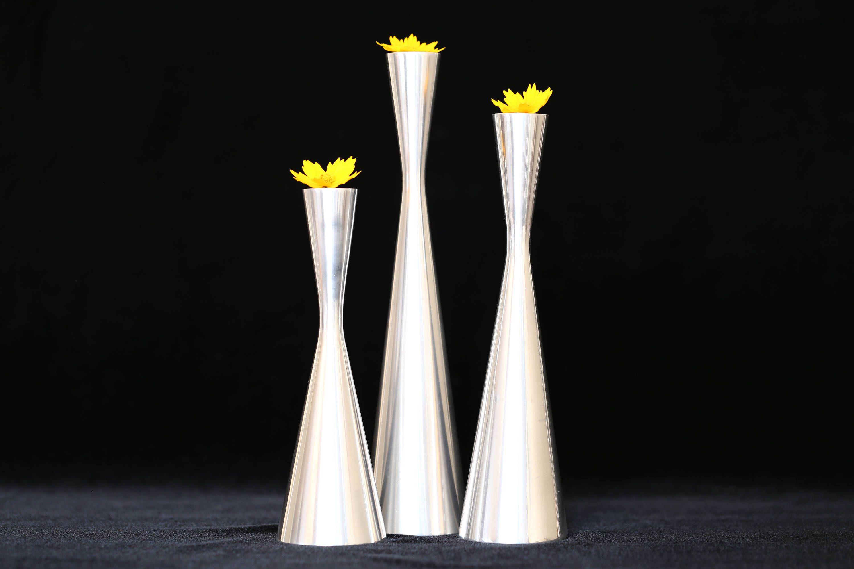 Mid Century Modern Candle Holders Danish Candlesticks Steel Metal Ca Etsy Vintage Iartg Etsygifts Findsfromyesteryear