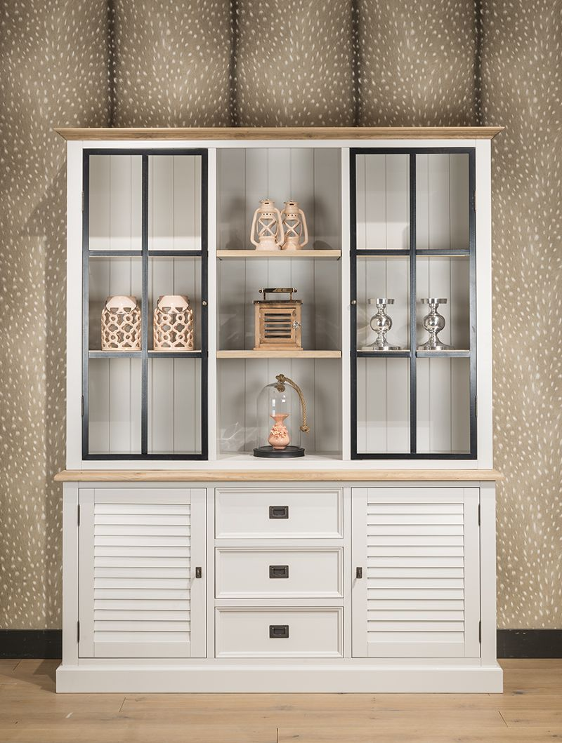 geschirrschrank wei im landhausstil vitrine wei geschirrschr nke vitrinen schr nke. Black Bedroom Furniture Sets. Home Design Ideas