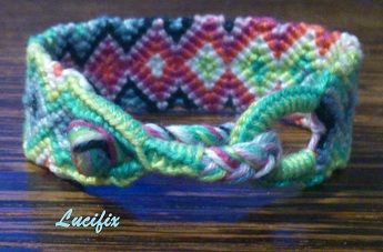 Buckle friendship bracelet lock - got to try this!