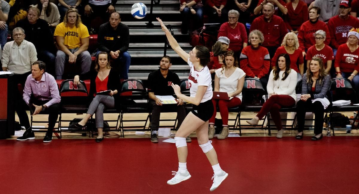 Photos The Huskers sweep the Tigers to advance to the