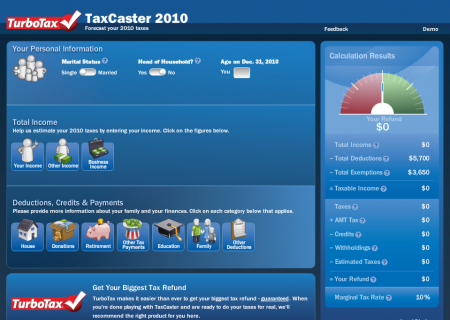 Try the TaxCaster application on Turbotax