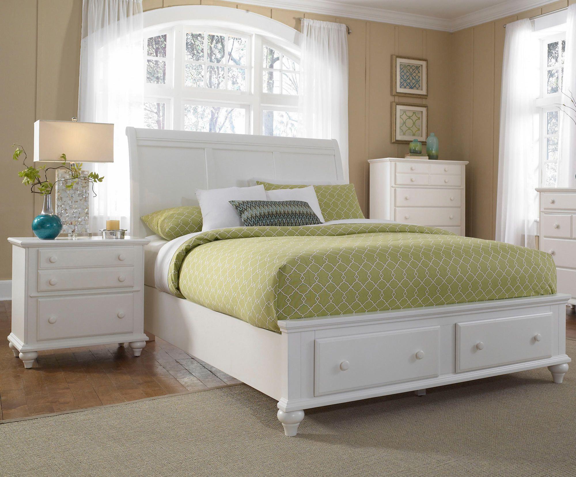 hayden place sleigh storage bedroom set in white by broyhill home rh pinterest com