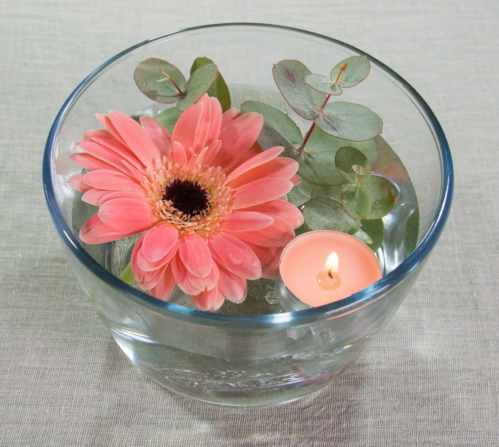 Utilizando Elementos Econ Micos Y F Ciles De Encontrar Puedes  ~ Centros De Flores Naturales Para Mesas