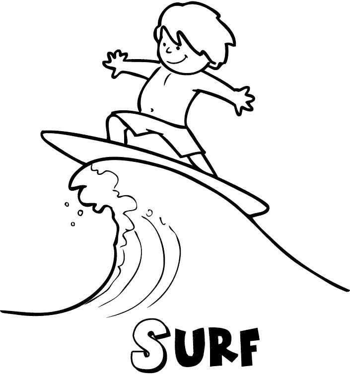 Surf En Verano Dibujos Para Colorear Dibujo Surf Dibujos Dibujos Para Colorear