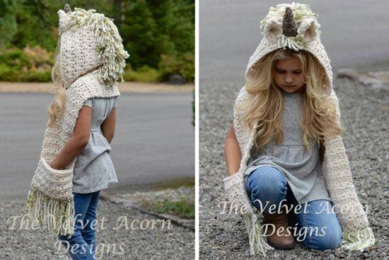 eaba76de3 Unicorn Crochet Hat Scarf Pattern Is A Stunner   knitwit and crochet ...