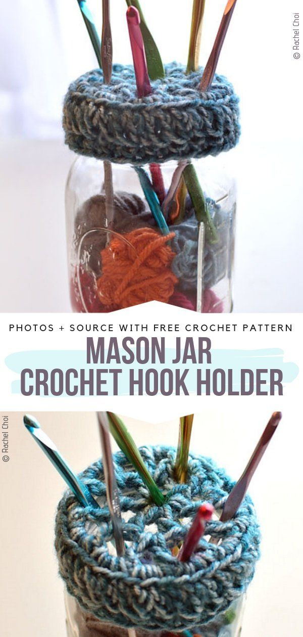Crochet Accessories For Crafters Free Patterns #diyyarnholder