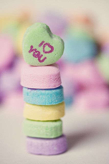 I♡YOU | Flickr - Photo Sharing! Super Cute Valentine Heart Pastel Candy