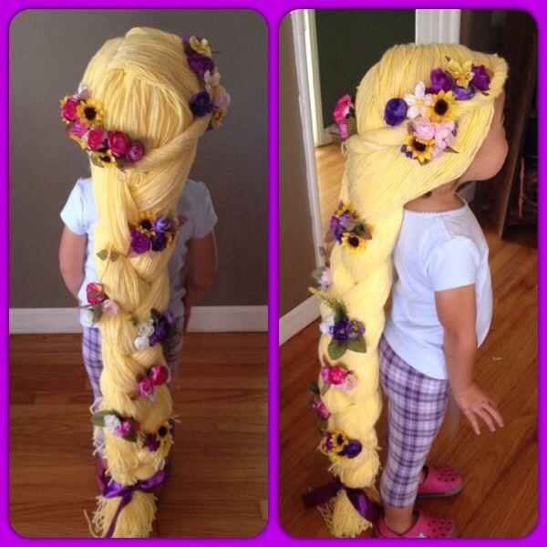 Yarn Wig, Rapunzel Hair, Diy Halloween