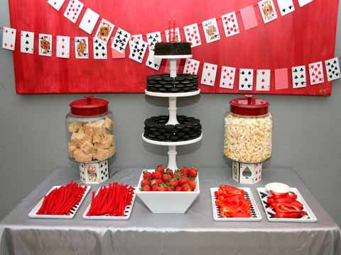 Fun food for a casino night party
