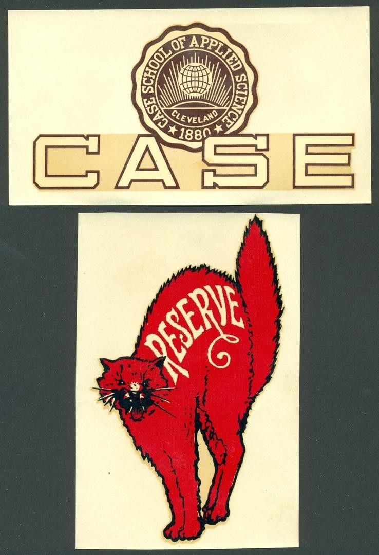 Vintage College Decal Stickers Case Western Reserve University 1940 S 1832100474 College Decals Western Logo Old Logo