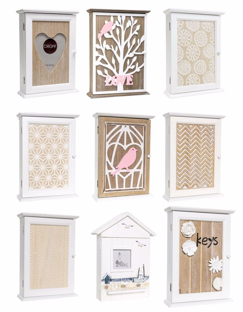 Wooden Key Box Rack Cabinet Keys Holder Hooks Storage Shabby Chic Wall Mounted Key Box Shabby Chic Key Holder Key Box Holder