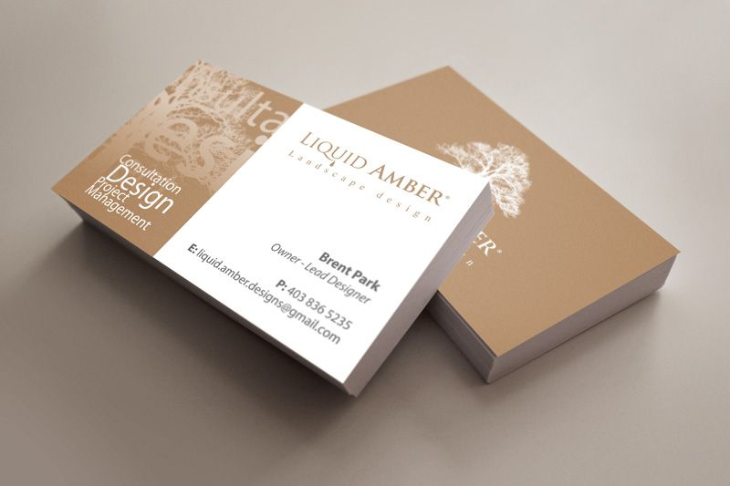 Branding design for calgary landscaping company business for liquid amber a landscaping company here in calgary alberta we started with logo design and they were so impressed we moved on to business card colourmoves
