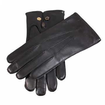 Dents Mens Mendip Leather Dress Gloves Wool Lined Black Mens