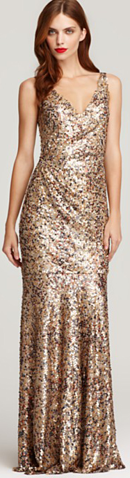 David Meister Gold Gown