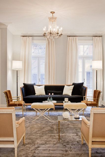 Love all the seating in here!!    Katie Lee's former NY home decorated by Nate Berkus