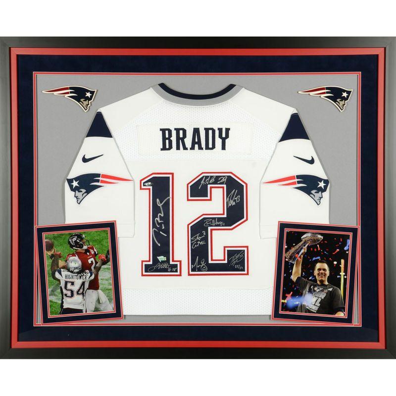 f133ff1f1 New England Patriots Fanatics Authentic Super Bowl LI Champions Deluxe  Framed Autographed Tom Brady White Nike