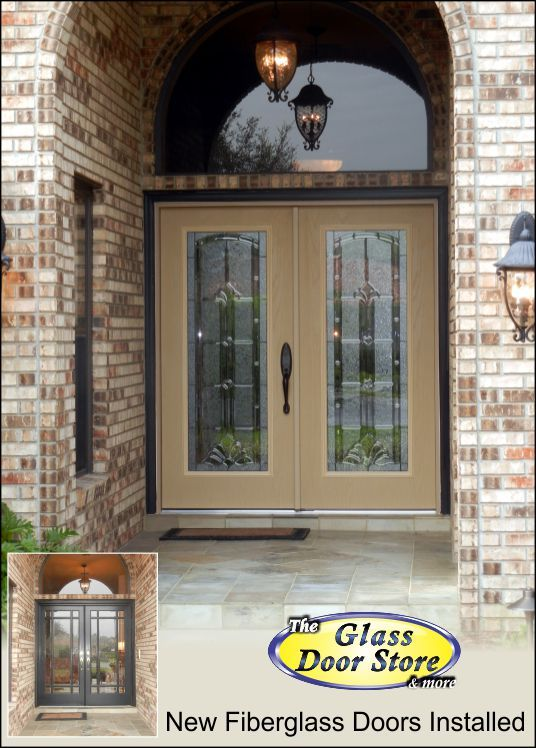 New Fiberglass Double Doors Installed In The Front Entry Of This