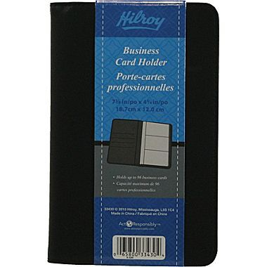 Hilroy Business Card Holder 7 3 8 X 4 3 4 Staples Business Card Holders Business Cards Card Holder