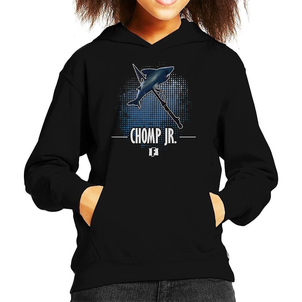Fortnite Chomp Jr Kid's Hooded Sweatshirt, Bottle Green / Large (9 / 11 yrs)