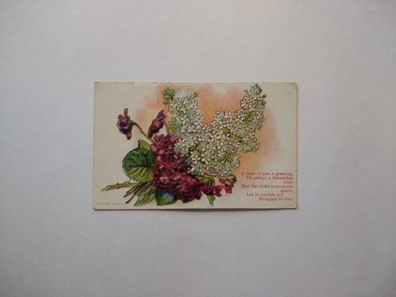 5c76d2f2216 Antique floral Arthur Capper postcard with 1910 postmark