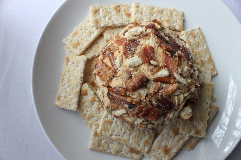 Beer and bacon cheese ball via The Tiny Table