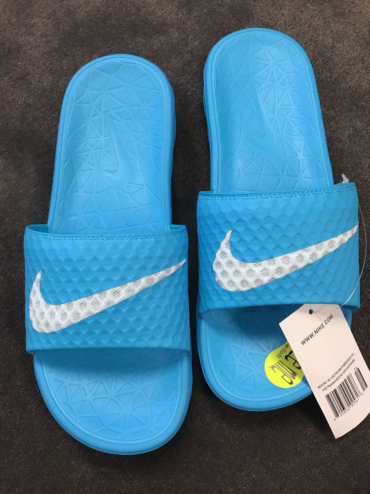 b74aba8bab81 Nike Benassi Solarsoft Blue Womens Women s Slides Size 9 NWT