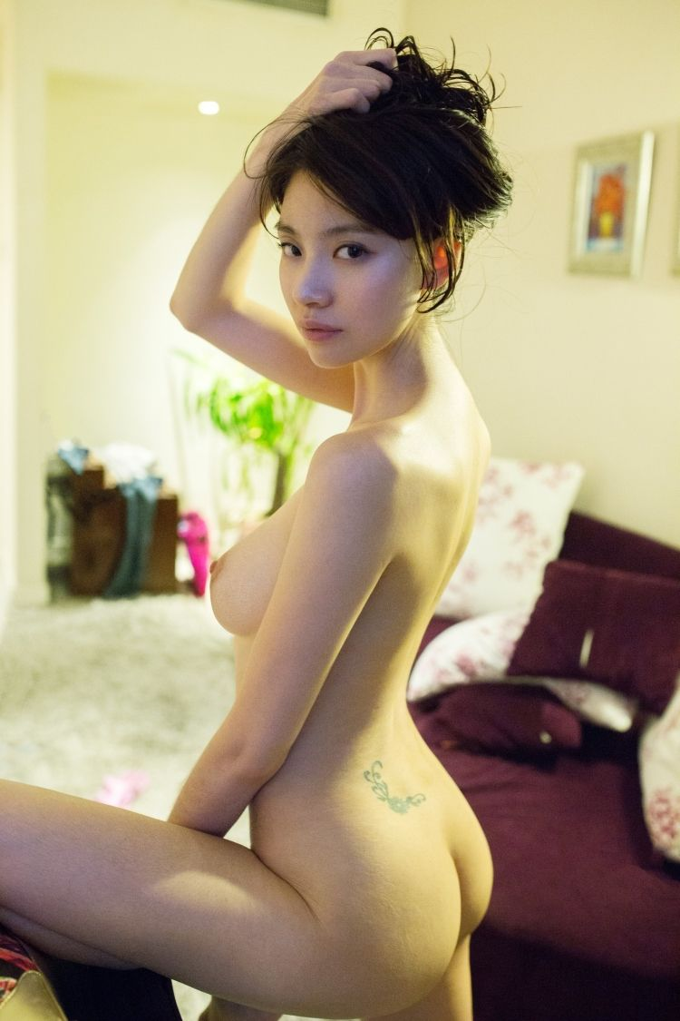 Perfect nude girl asian body