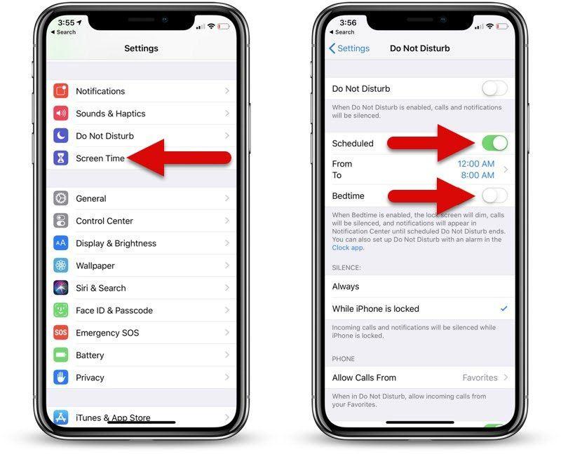 طريقة تفعيل وضع عدم الإزعاج عند النوم في Ios 12 على الأيفون والأيباد نيوتك New Tech Galaxy Phone Screen Time Samsung Galaxy Phone
