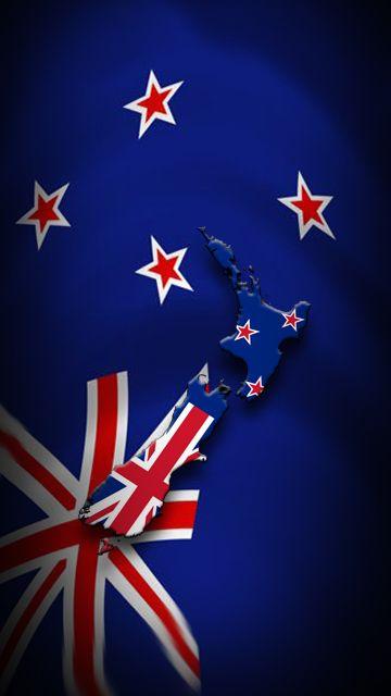 New Zeland New Zealand Flag Flag Art Iphone Wallpaper