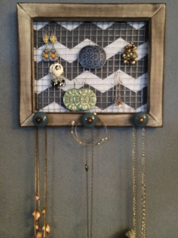 Vintage Repurposed Wood Frame Jewelry by MaryFrancisBoutique