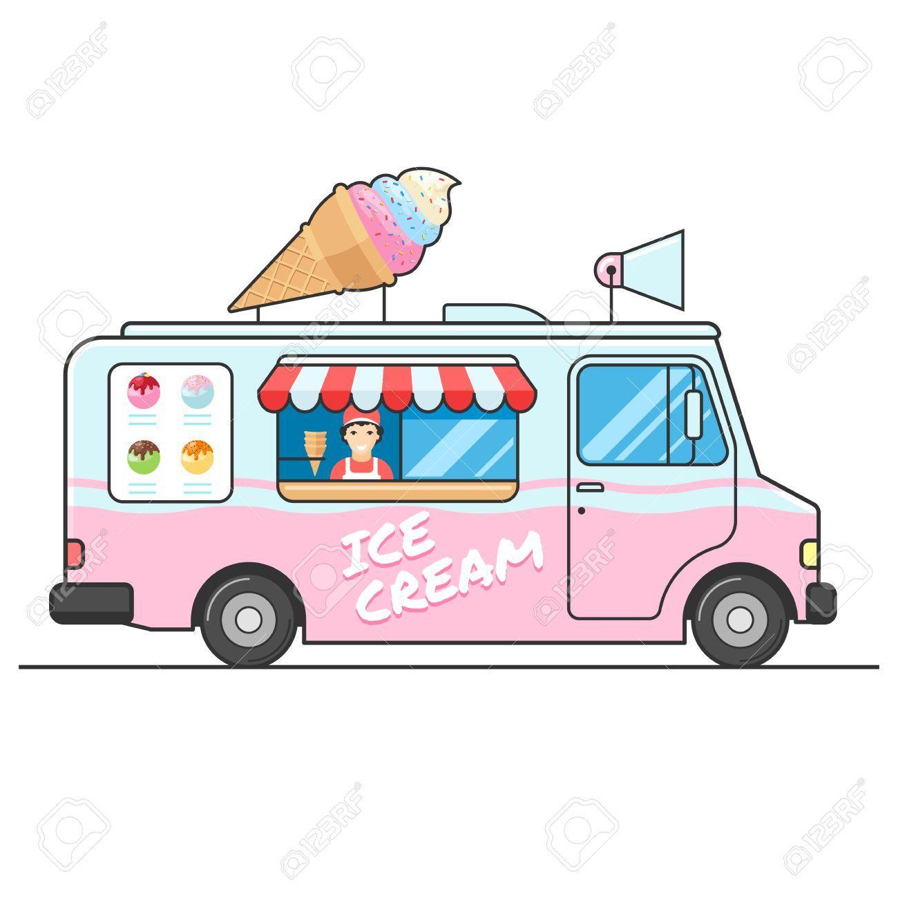 Ice Cream Shop Illustration の画像検索結果 Ice Cream Truck Ice Cream Van Van