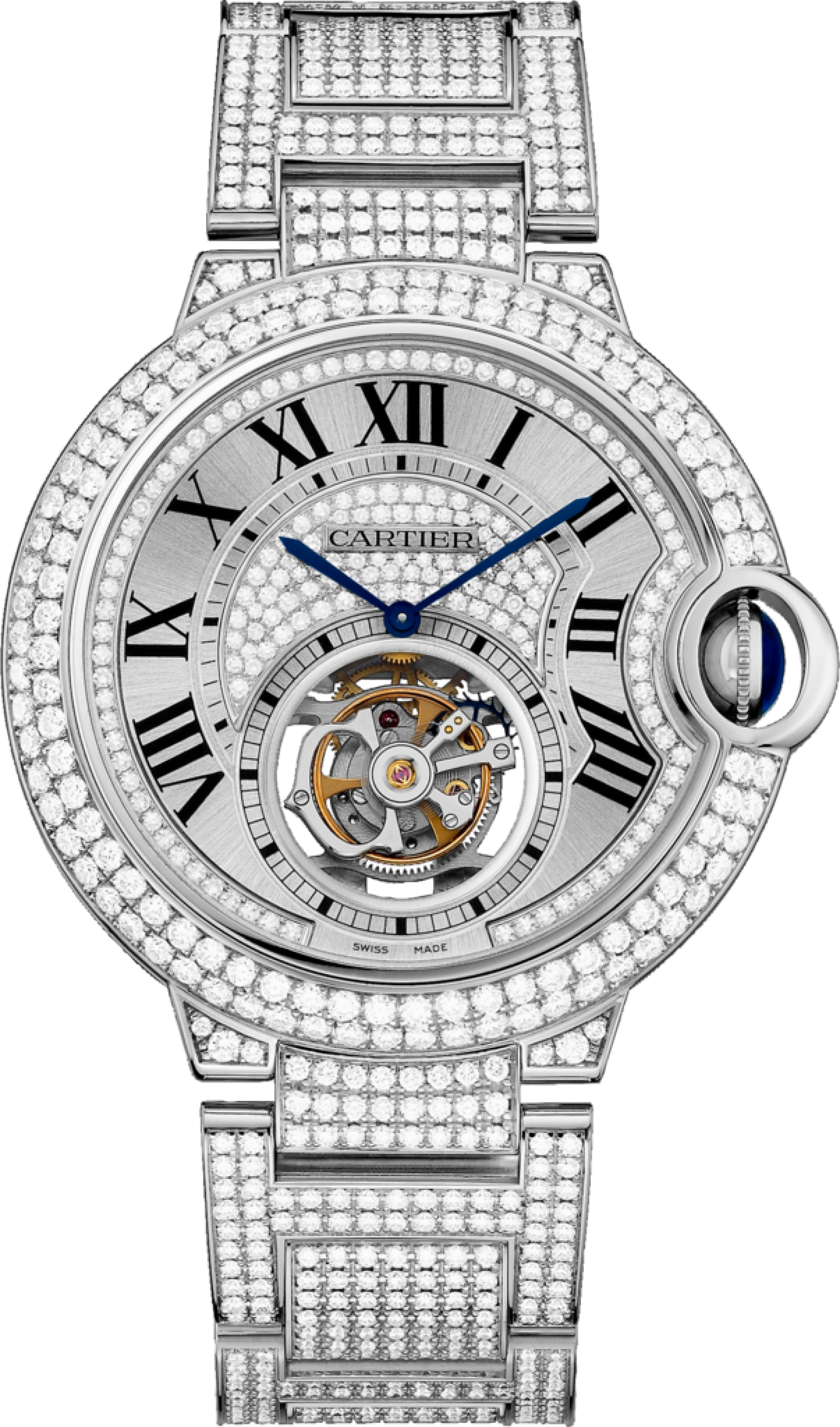 cartier demoiselle white chronostore watch quartz santos ladies watches quarts diamonds itm gold