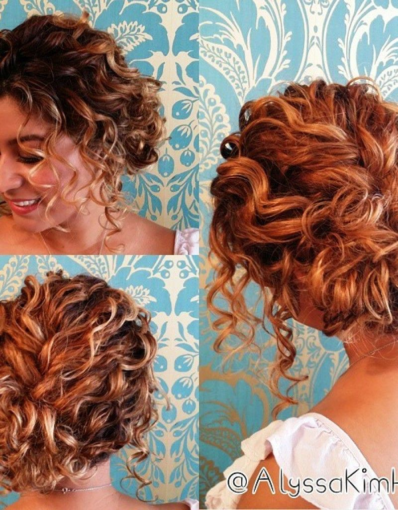 Half Up Hairstyles For Short Curly Hair In 2020 Curly Hair Up Short Hair Updo Short Wedding Hair